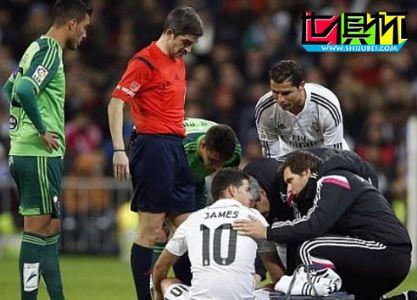 2014世俱杯J罗被曝右小腿肌肉撕裂 至少缺阵2周无缘比赛