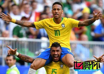 2018世界杯,巴西2-0淘汰墨西哥挺进八强 内马尔破门桑巴创纪录