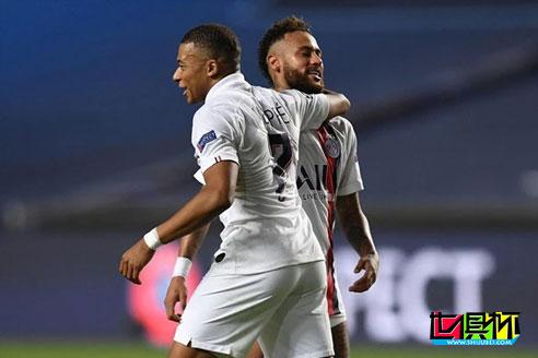 欧冠1/4决赛巴黎2比1逆转亚特兰大,内马尔、姆巴佩未进球但功不可没