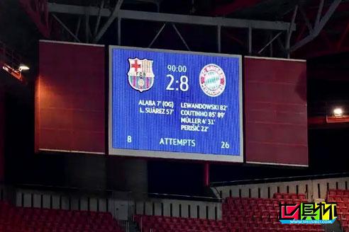 欧冠1/4决赛拜仁8-2狂虐巴萨,巴萨表现令人不可思议