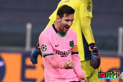 欧冠小组赛巴萨2-0胜尤文,梅西传射建功 登贝莱远射破门