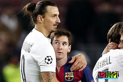 伊布在接受欧足联官网采访时表示:在我队里不让梅西踢点球