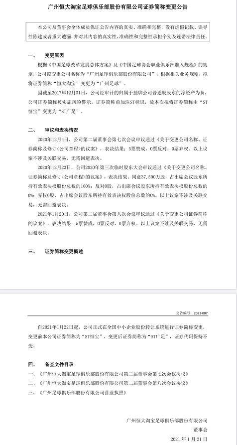 """广州恒大官宣:""""广州恒大淘宝""""正式更名为""""广州队""""-第2张图片-世俱杯"""