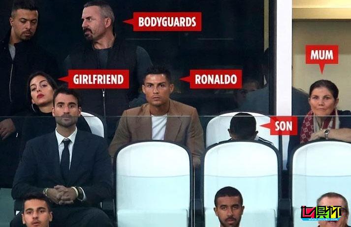 葡萄牙球星C罗和他的保镖们,专门负责保护自己以及家人们