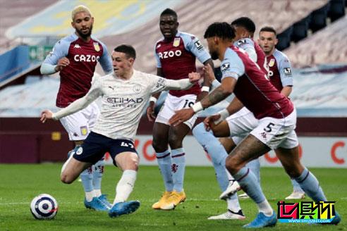 英超曼城客场2-1逆转阿斯顿维拉,20岁福登打入一球表现抢眼