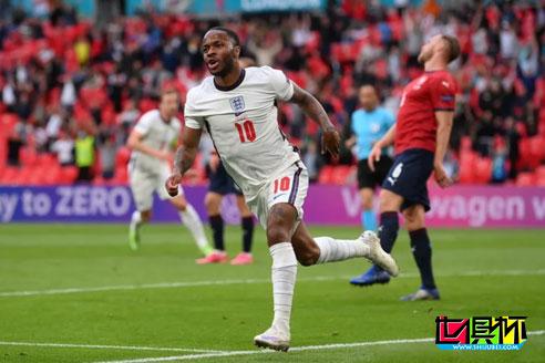 欧洲杯:英格兰1:0击败捷克晋级16强,斯特林头槌破门制胜
