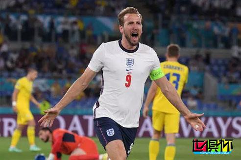欧洲杯1/4决赛,英格兰4-0淘汰乌克兰,半决赛对阵丹麦