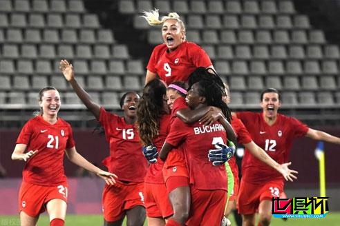 加拿大女足1-0淘汰美国女足晋级东京奥运女足决赛