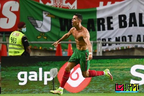 世预赛葡萄牙2-1绝杀爱尔兰,C罗梅开二度111球成为历史第一人