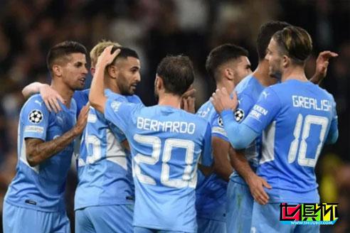 欧冠小组赛A组首轮,曼城主场6-3击败10人莱比锡取得开门红